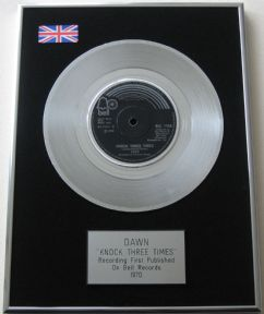 DAWN - KNOCK THREE TIMES PLATINUM Single Presentation DISC
